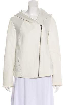 Helmut Lang Hooded Leather Jacket w/ Tags