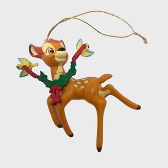 Persora - Retro Bambi Festive Disney Collectible Bauble - Brown/Red/Green