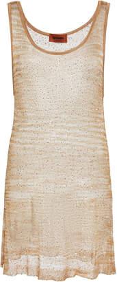 Missoni Sleeveless Open-Knit Tunic Top