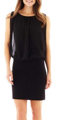 JCPenney Scarlett Beaded Chiffon Blouson Dress