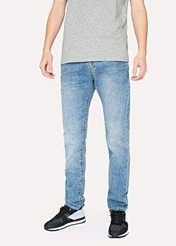 Paul Smith Men's Slim-Standard 12.5oz 'Rigid Western Twill' Light-Wash Denim Jeans