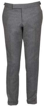 Thom Browne Low-Rise Elastic Stripe Seamed Wool Trousers