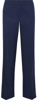 Theory Traceable Paneled Stretch-Wool Crepe Straight-Leg Pants