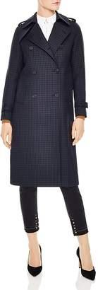 Sandro Rosale Plaid Trench Coat