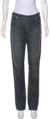 Rich & Skinny Mid-Rise Straight-Leg Jeans