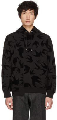 McQ Black Cut-Up Coverlock Hoodie