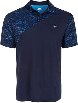 Greg Norman Attack Life by Men Colorblocked Polo