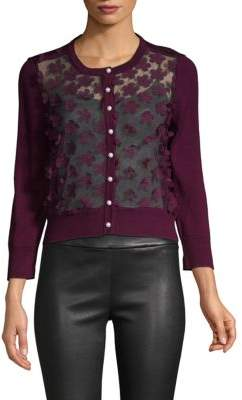 Lace Button-Down Cardigan