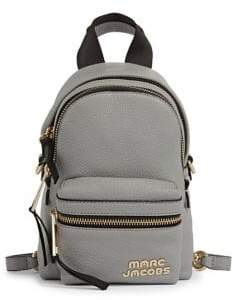 Marc Jacobs Logo Leather Backpack