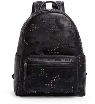 MCM Medium Studded Lion Camo Stark Backpack