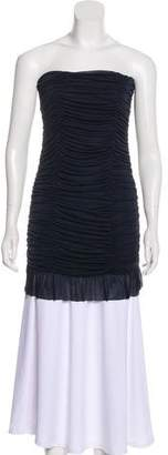Alice + Olivia Strapless Ruched Top
