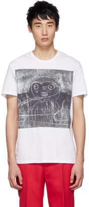 Alexander McQueen White John Deakin Archive Edition Graffiti T-Shirt