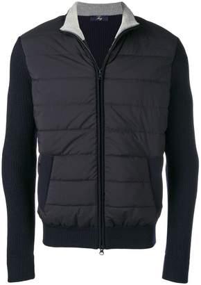 Fay mixed fabric bomber jacket