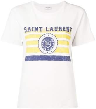 Saint Laurent université printed T-shirt