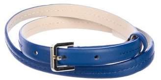 Max Mara Skinny Leather Belt w/ Tags