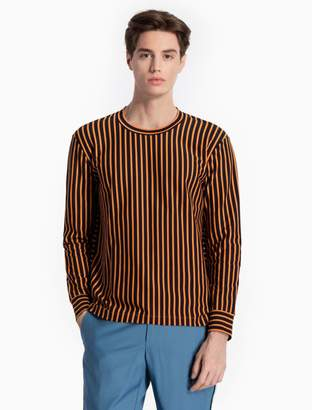 Calvin Klein striped cotton knit shirt