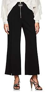 Givenchy Women's Zip-Detail Wool Wide-Leg Trousers - Black