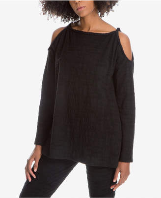 Max Studio London Textured Cold-Shoulder Top, Created for Macy's