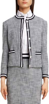 Thom Browne Stripe Tweed Cardigan