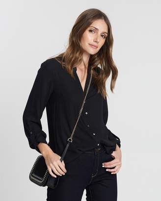 Dorothy Perkins Rounded V-Collar Shirt