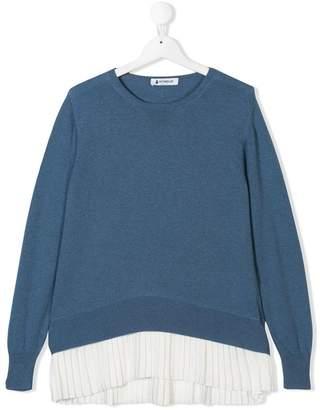 Dondup Kids TEEN layered hem sweater