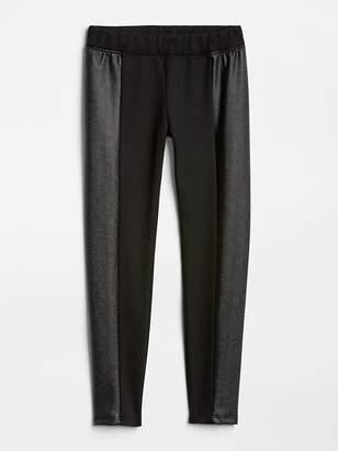 Gap Leather Panel Ponte Pants