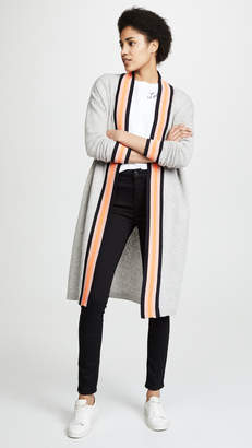 Scotch & Soda/Maison Scotch Long Cardigan with Sporty Stripe