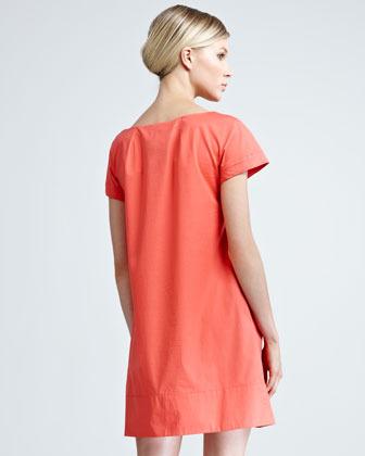 Paule Ka Poplin Rosette Dress