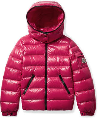 Moncler Ages 8 - 10 Bady Hooded Glossed-shell Down Jacket