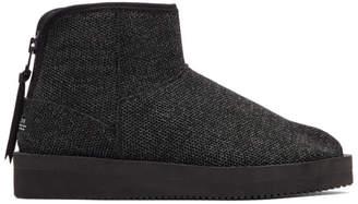 Suicoke Black Toby Knit Boots