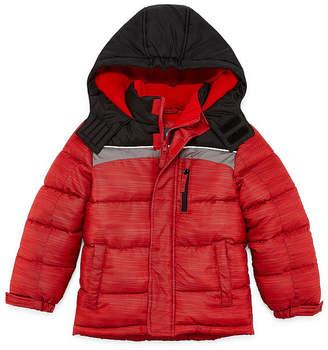 Xersion - Boys Fleece Lined Water Resistant Heavyweight Puffer Jacket-Big Kid Husky
