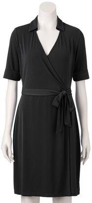 Women's Apt. 9® Solid Faux-Wrap Dress $50 thestylecure.com