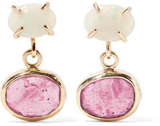 Melissa Joy Manning 14-karat Gold, Opal And Sapphire Earrings - one size