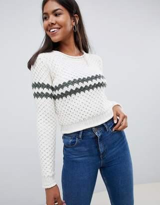 Bellfield Chunky Stripe Knitted Sweater