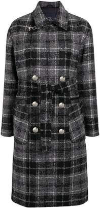Fay checked double breasted coat