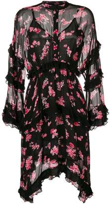 Pinko floral print ruffled dress