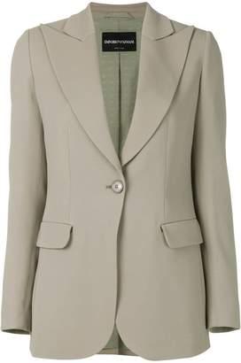 Emporio Armani peak lapel single-breasted blazer