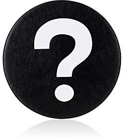 "Lisa Perry Reversible ""?/!"" Vinyl Placemat - Wht.&blk."