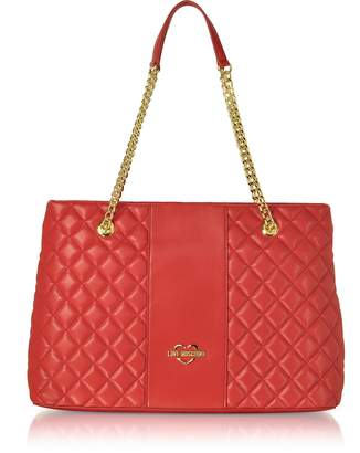 Love Moschino Quilted Eco Leather Tote Bag