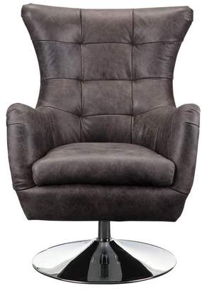 Moe's Home Collection Apsley Leather Swivel Chair