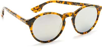 McQ - Alexander McQueen Round Mirrored Sunglasses $139 thestylecure.com