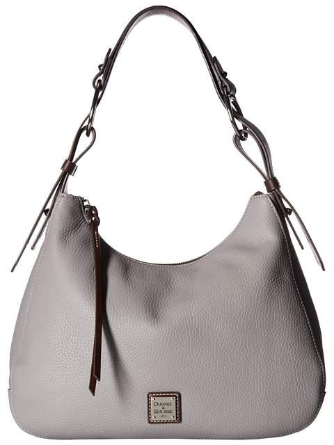 Dooney & Bourke Becket Large Riley Hobo Hobo Handbags - GREY/TMORO TRIM - STYLE