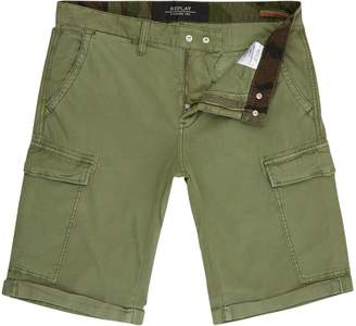 Replay Men's Twill Cargo Bermuda Shorts