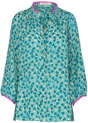 Libelula Hartford Top Hearty Print Turquoise
