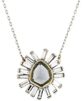 Alexis Bittar Faceted Crystal Starburst Pendant Necklace