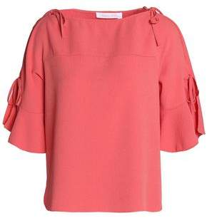 See by Chloe Bow-Detailed Crepe Top