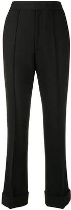 Helmut Lang high-waisted flared trousers