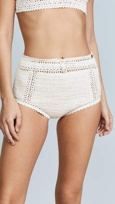 She Made Me Essential Cotton Crochet High Waist Bikini Bottoms