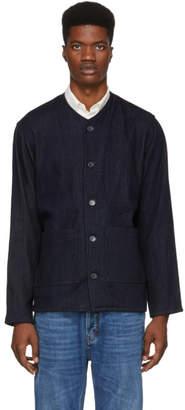 Naked & Famous Denim Denim Navy Denim Chore Jacket