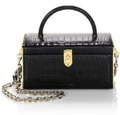 Judith Leiber Couture Embossed Leather Train Case